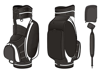Custom Golf Bag- Full Size Template