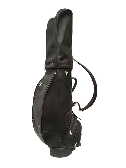 "Piel Deluxe Leather Golf Bag- 9"" Chocolate"