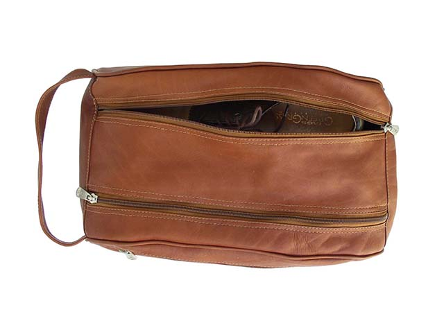 Double Compartment Travel Bag- Saddle